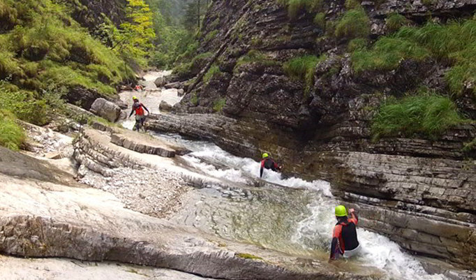 Teamtraining Canyoning Tour